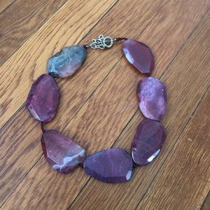 Gorgeous purple stone necklace